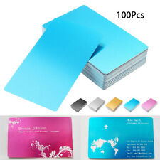 20pcs Alumium Alloy Card Laser Engraved Metal Business Visiting Name Cards Blank