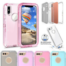 For iPhone X 6 6S 8 7 Plus XS Max Case Hybrid Heavy Duty Shockproof Armor Cover