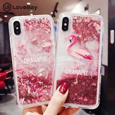 Lovebay Quicksand Case For iPhone X 7 8 Flamingo Phone Cases For iPhone 6 6s