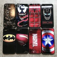 Luxury Marvel Avengers Tempered Glass Phone Cases for iPhone 8 7 6 6s Plus XS