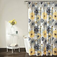 Leah Shower Curtain 72 X 72, Yellow And Gray