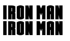 IRON MAN DECAL, VINYL STICKER, (BUY 1 GET 2) FREE SHIPPING