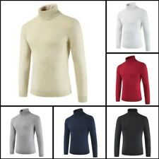 Knitwear Knit Casual Winter Mens Jumper Sweater Warm Turtle Neck Pullover Blouse