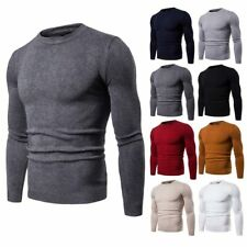 Knitwear Sweater O Neck Pullover Warm Knit Jumper Mens Winter Casual Blouse Tops