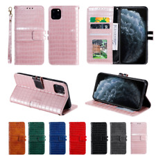 Luxury Crocodile Grain Leather Case Wallet Cover For iPhone 11 Pro Max XS XR 8 7