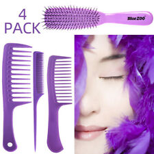 4PC Salon Hair Styling Comb Set Professional Barbers Hairdressing Brush Comb