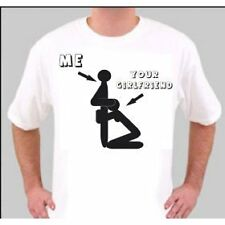 TS1498 ME AND YOUR GIRLFRIEND VERY RUDE FUNNY T SHIRT