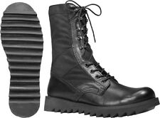 Black Ripple Sole Army Leather Jungle Boots