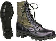 Olive Drab Leather Military Jungle Boots