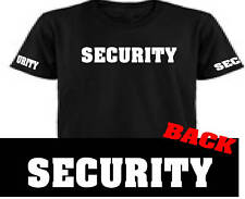 Security Tee Shirt T Printed Front Back Sleeve All Size