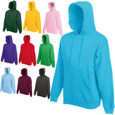 FRUIT OF THE LOOM HOODED TOP HOODIE  23 COLOURS S - XXL