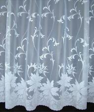 Top Quality LAURA WHITE NET CURTAIN in 14 drop sizes