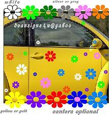 30 MULTI COLOR DAISY flowers hippy VW bug beetle car Volkswagen all weather NEW