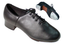 New Black Leather Tap Dance Shoes ty4 (size 5 to 9.5)