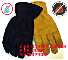 Heavy Duty Rated Firefighter Work Gloves Waterproof NEW