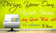 Design Your Own Wall art Quote text name sticker words vinyl quote