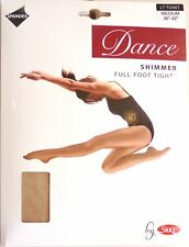 SILKY SHIMMER DANCE TIGHTS Full Foot Light Toast 4 Adult Sizes S, M, L and XL