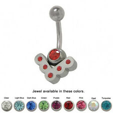 Vintage Jewels Belly Ring Navel Barbell Jewelry 14G