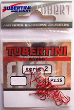TUBERTINI SERIES 2 RED BARBED MATCH HOOK - POLE HOOK