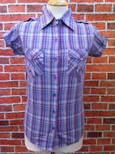 Womens INDIE, Modette, RETRO Checked Shirt, NEW, S, M
