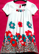 GIRLS*LOOSE FLORAL PLEADED SQUARE NECK*DRESS (multi-sz)