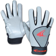 NEW! ADULT CHAMPRO  GREY RECEIVERS GLOVES FOR FOOTBALL
