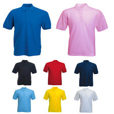 Mens Jersey Polo Shirts Size XS to 3XL SHORT SLEEVE 100% COTTON POLOS - 122