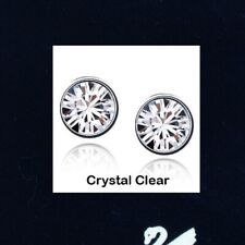 1pair x GENUINE SWAROVSKI Crystal & 18K W GP Studs EARRINGS 7mm ~Various Color~