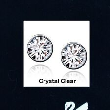 1pair x 18K W GP Studs EARRINGS made with 7mm Genuine SWAROVSKI Crystal Elements