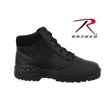 """ROTHCO 6"""" Tall Forced Entry LaceUp Tactical Security Work Boots Black Style 5054"""