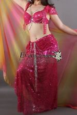 Belly Dance Costume 2Pcs Bra&Skirt 15Colors Available