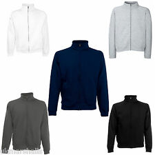 FRUIT OF THE LOOM FULL ZIP SWEATSHIRT JACKET - 5 COLOURS S M L XL XXL FREE POST