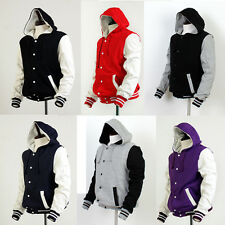 Cotton Hoodie Varsity Letterman College Baseball Jackets