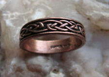 Solid Copper Ring with celtic knot work #053 - Available in sizes 6 to 13