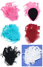 Curly Nagorie Goose Feather Pad for Headband hats Fascinator dress/costume craft
