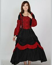 Gothic Corset Lace Lolita Civil War Pattern Bodice Dress Ball Gown Prom SC41016
