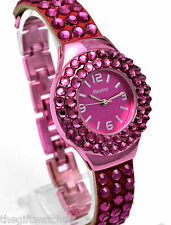 Henley Ladies Glitzy Diamante Watches, Colour Cluster Party Sparkle, Gift Boxed