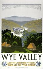 Wye Valley, English Vintage Railway Travel Poster Print