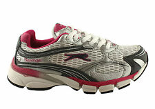 SLAZENGER SATURN W WHITE/GREY/PINK WOMENS/LADIES SHOES/RUNNERS/SNEAKERS/SPORTS