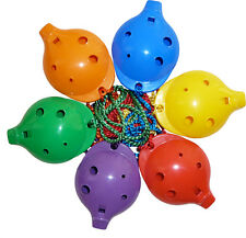 Plastic OCARINA – School 6-hole Alto with How-to-play Card –  6 rainbow colours