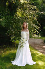 MEDIEVAL PAGAN WEDDING DRESS HANDFASTING DRESS IVORY CUSTOM MADE 6 8 10 12 14 16