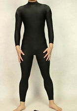 Lycra spandex zentai costume black bodysuit without head/hands/feet size S-XXL