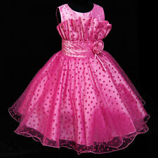 GP AS Hot Pink #8811 Christmas Party Flower Girls Dress SIZE 2-3-4-5-6-7-8-9-10Y