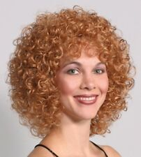 LUCY WIG 50'S 70'S AUBURN BLACK BROWN BLONDE WOMAN LONG CURLY CURL AFRO WIG 2014
