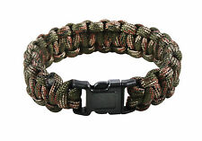 New Rothco Green Camo Military Paracord Survival Bracelet - 3 Sizes Available!
