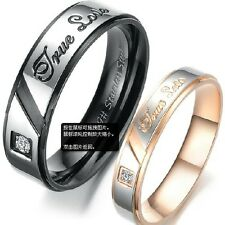 Titanium Steel Ring Pair Set Wedding Fashion Ring Matching Engagement Band