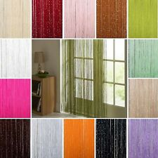 14COLOR STRING CURTAIN with BEAD  SEQUIN SPANGLE FRINGE PANEL ROOM DIVIDER