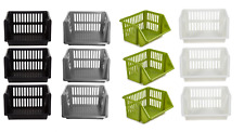 NEW HIGH QUALITY PLASTIC 3 TIER STACKER KITCHEN OFFICE RACK BASKET STORAGE