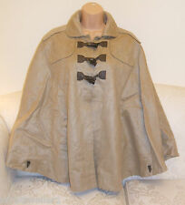 PRIMARK SIZE 8 BEIGE FAUX SUEDE CAPE / JACKET / COAT BRAND NEW WITH TAGS
