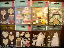 JOLEE'S BOUTIQUE WEDDING BRIDE THEMED SCRAPBOOK STICKERS 25 STYLES YOU CHOOSE 1